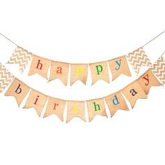 """Simples/Clássico/""""Feliz Aniversário"""" Lovely/Elegante Linho Decorações de Casamentos"""