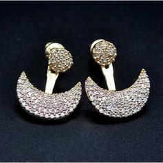 Magnifique Cuivre/Zircon de/S925 Argent Dames Boucles d'oreilles