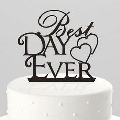 Coração & Carta Acrílico Decorações de bolos