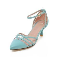 Kunstleder Niederiger Absatz Absatzschuhe Geschlossene Zehe mit Schnalle Schuhe