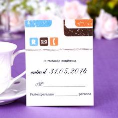 Personalizado Simples Papel Pérola Cartões da Resposta (Conjunto de 50)