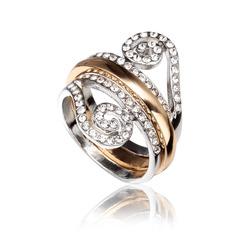 Красивая сплав/Стразы/позолоченный женские кольца