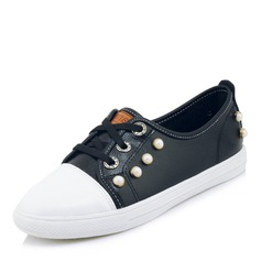 Women's Leatherette With Lace-up Sneakers & Athletic
