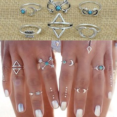 Nice Alloy Ladies' Fashion Rings (Set of 6)