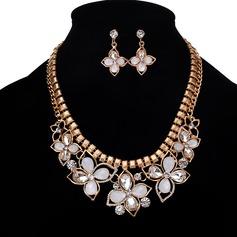 Exquisite Liga Resina com Strass Conjuntos de jóias