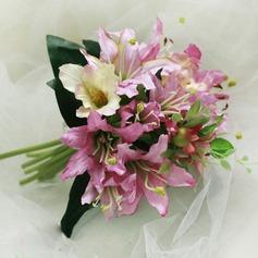 Vornehm Mid Hand Gebunden Satin Brautjungfer Blumensträuße