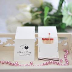 Personalizado Corações Dobro papel cartão duro Caixas de Fósforos Personalizadas