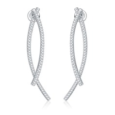 Smukke Kobber/Zirkon/S925 Sølv Ladies ' øreringe