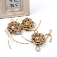 Linen Flower (set of 10)
