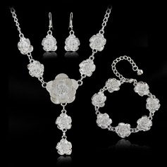 Flower Shaped Alloy Ladies' Jewelry Sets