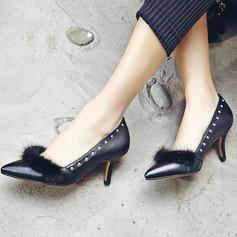 De mujer Piel Tacón stilettos Salón Cerrados con Rivet Piel zapatos