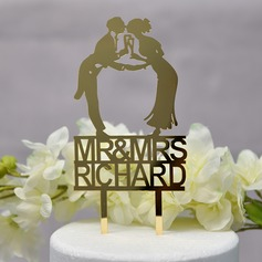 Personalizado Mr & Mrs Acrílico Decoración de tortas (Sold in a single piece)