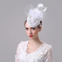 Ladies ' Smukke/Gorgeous/Efterspurgte/Særlige Linned med Tjekkisk Stones Diskette Hat