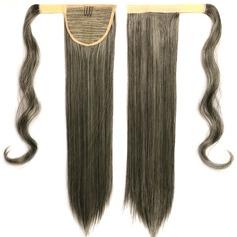 Tout droit cheveux synthétiques Queues de cheval (Vendu en une seule pièce) 100 g