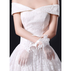 Koronka Krótkie eleganckie rękawiczki Rękawiczki Ślubne Z Koronka