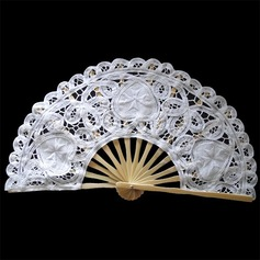Cotton Wedding Fans With Embroidery