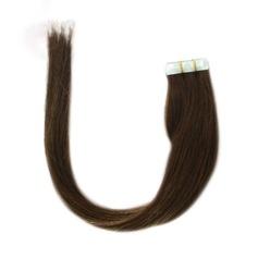 4A Ej remy Rakt människohår Tape i hårförlängningar 20PCS