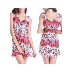 Красивая Цветочный платье пляжа