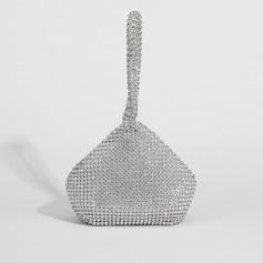 Shining Satin Wristlets/Top Handle Bags/Bridal Purse