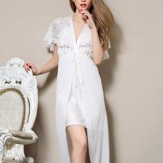 De chinlon/Mousseline Nuptiale/Féminine Vêtements de nuit