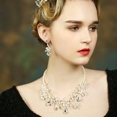 Elegant Pärla/Strass Damer' Smycken Sets