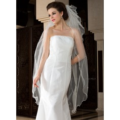 Three-tier Waltz Bridal Veils With Scalloped Edge