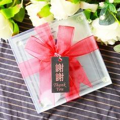 Chinese Wedding Gift LOVE Glass Coasters Set (set of 2pcs) 2)