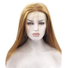 Straight Syntetiska peruker Lace Front Parykar