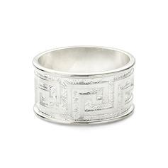 Classic Zinc Alloy Napkin Rings