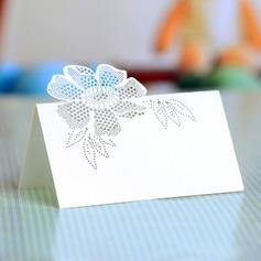 Blomma mallen Pärla Papper Placeringskort (sats om 12)