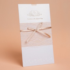 Modern Style Wrap & Pocket Invitation Cards With Bows (Set of 50)