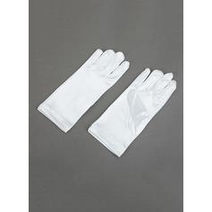 Упругие атласная Наручные длина Цветок перчатки девушки (014062354)