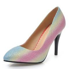 Frauen Kunstleder Kegel Absatz Absatzschuhe Geschlossene Zehe Schuhe