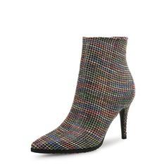 Kvinnor PU Stilettklack Pumps Stängt Toe Stövlar skor