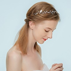 Ladies Pretty Alloy Headbands With Rhinestone/Venetian Pearl (Sold in single piece) (042171455)