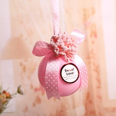 """Sweet Love"" Ball Favor Boxes With Ribbons (Set of 12)"
