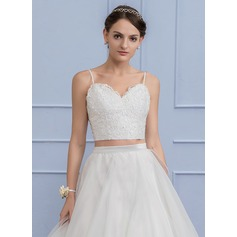 Separates Sweetheart Lace Wedding Crop Top