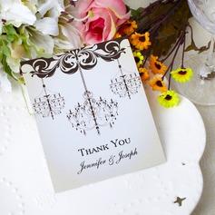 Персонализированные Цветочный дизайн Бумага Спасибо карты (набор из 50)