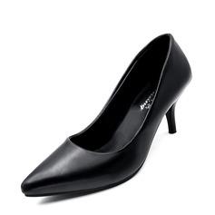 Kvinnor Konstläder Stilettklack Pumps Stängt Toe skor