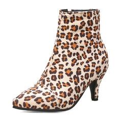 Femmes Cuir en microfibre Talon stiletto Bottes Bottines avec Zip chaussures