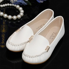 Women's PU Flat Heel Flats Closed Toe shoes