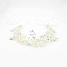 Ladies Glamourous Rhinestone/Alloy/Imitation Pearls Headbands With Rhinestone