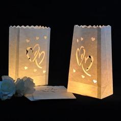 Nice Projeto do coração Papel Luminar (conjunto de 4)