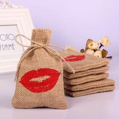 Lovely/Single Handbag shaped Linen Favor Bags (Set of 12)