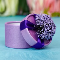 Classic Cylinder Favor Boxes With Flowers