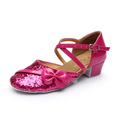 Women's Kids' Sparkling Glitter Heels Ballroom With Ankle Strap Dance Shoes