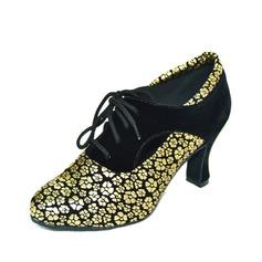 Mulheres Camurça Saltos Bombas Swing Sapatos de dança