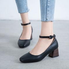 Kadın PU Kalın Topuk Pompalar أحذية