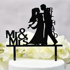 Personalizado Pareja Clásica/Mr & Mrs Acrílico Decoración de tortas (Sold in a single piece)