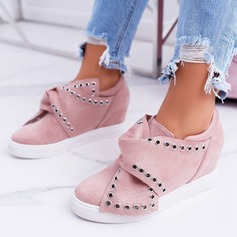 De mujer Ante Tacón plano Planos con Rivet zapatos